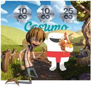Casumo delar ut spins