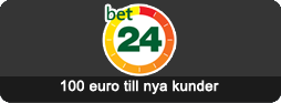 100 euro till nya kunder hos Bet24