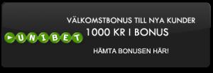 1000 kronor i bonus till nya kunder hos Unibet