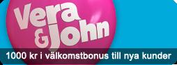 Få 1000 kronor extra på din första inshättning hos Vera&John Casino